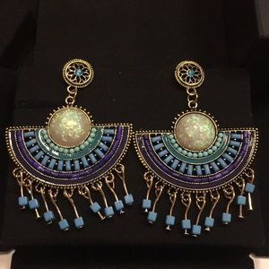 Jewelry - Beautiful Colorful Dangling Fashion Earrings